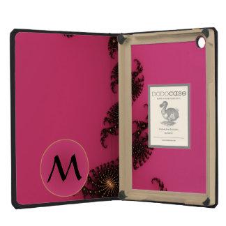 Cola del escorpión con el monograma - negro rosado