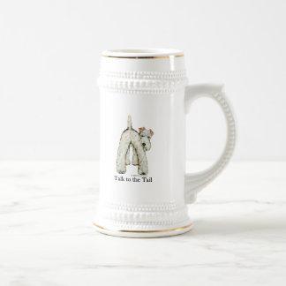 Cola del fox terrier del alambre tazas de café