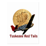 Cola del rojo de Tuskegee Postal