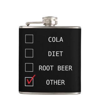 """""""Cola divertida, dieta, cerveza de raíz, otra """""""