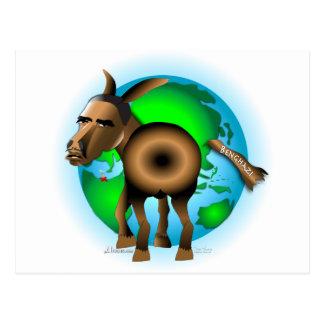 Cola en burro postales
