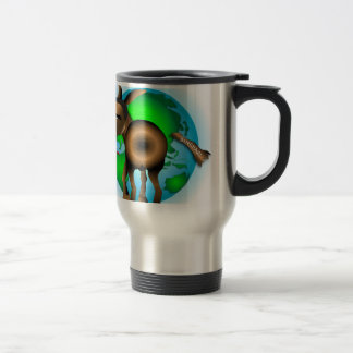 Cola en burro taza de viaje