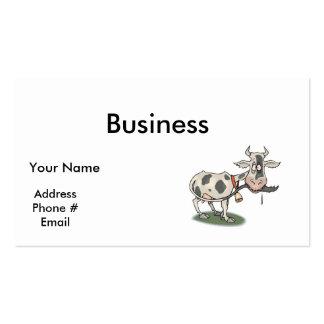 cola penetrante de la vaca divertida tarjetas de visita
