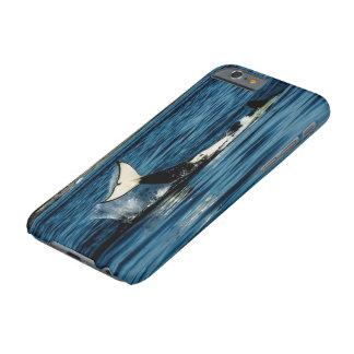 cola que da una palmada a la caja de la orca funda de iPhone 6 barely there