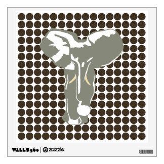 Cola Safari Dot with Pop Art Elephant Wall Skin