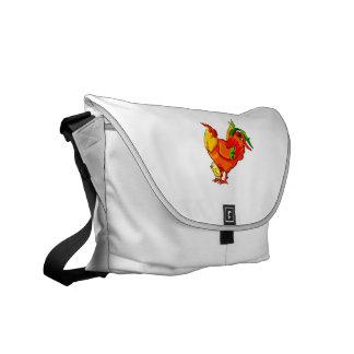 cola verde del gallo con el bebé chick png bolsa de mensajeria