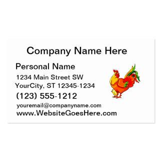 cola verde del gallo con el bebé chick.png tarjeta de visita