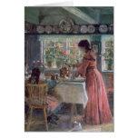 Colada de la mañana Coffee, 1906 Felicitacion