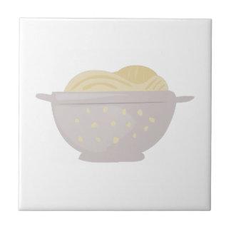 Colador de los espaguetis azulejo cerámica