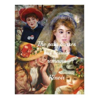 Colage de la pintura de Renoir Plantillas De Membrete
