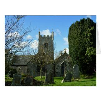 Colan Church Near Newquay Cornwall England Card