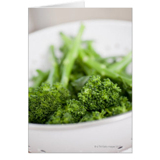 COLANDER FULL OF SUPERFOOD BROCCOLI GREETING CARD