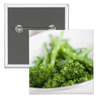 COLANDER FULL OF SUPERFOOD BROCCOLI PINBACK BUTTON