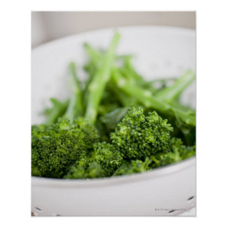 COLANDER FULL OF SUPERFOOD BROCCOLI POSTER