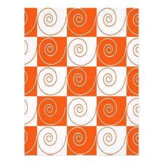 Colas anaranjadas y blancas del ratón membrete