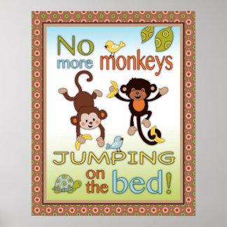 Colas rizadas - no más de monos que saltan en la c póster