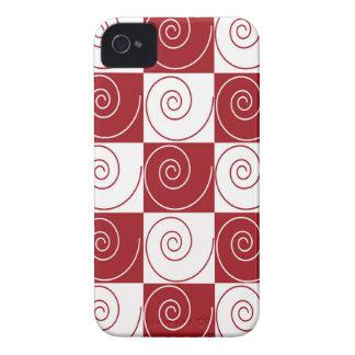 Colas rojas y blancas del ratón iPhone 4 Case-Mate cobertura