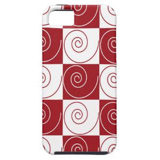 Colas rojas y blancas del ratón iPhone 5 carcasa