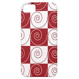 Colas rojas y blancas del ratón iPhone 5 funda