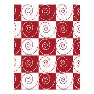 Colas rojas y blancas del ratón membrete a diseño