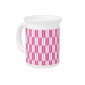 Colas rosadas y blancas brillantes de la flecha jarrón