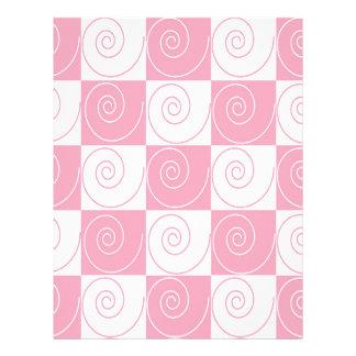 Colas rosadas y blancas del ratón membrete a diseño