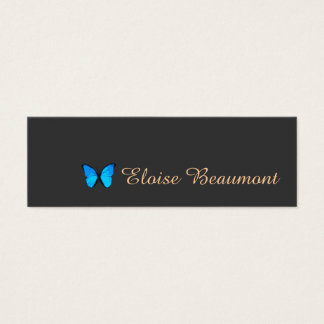 Colbalt Blue Butterfly Nature Mini Business Card