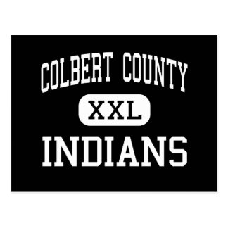 Colbert County - Indians - High - Leighton Alabama Post Card