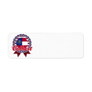 Colbert, GA Return Address Label