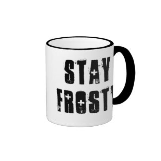 Colbert Says ~ Stay Frosty Coffee Mugs