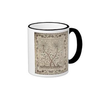 Colcha con adornos de la palmera tazas de café