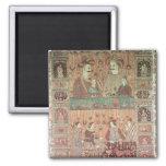 Colcha que representa a potentados nativos imán para frigorifico