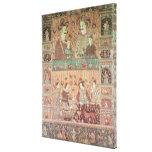Colcha que representa a potentados nativos impresiones de lienzo