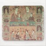 Colcha que representa a potentados nativos tapete de ratón