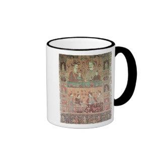 Colcha que representa a potentados nativos taza de café