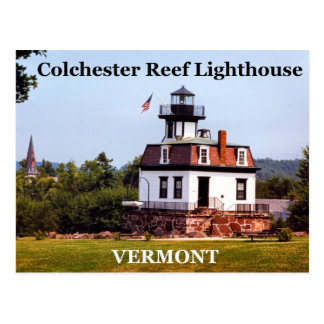Colchester Reef Lighthouse, Vermont Postcard