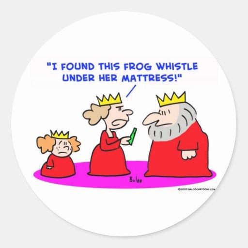 colchón del silbido de la rana de la princesa de pegatina redonda