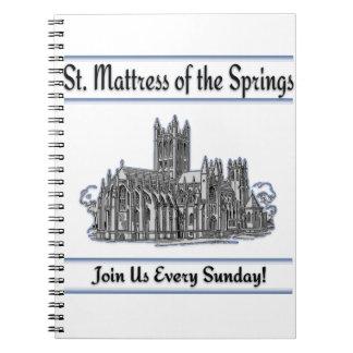 """""""Colchón del St. iglesia de las primaveras"""" Cuaderno"""