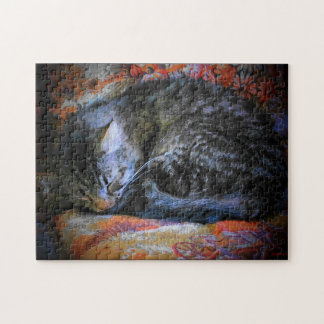 Cold and curled up jigsaw puzzle
