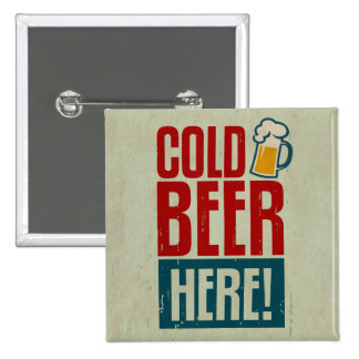 Cold Beer 2 Inch Square Button