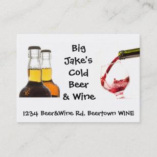 Liquor store business cards templates zazzle cold beer and wine liquor store business card colourmoves