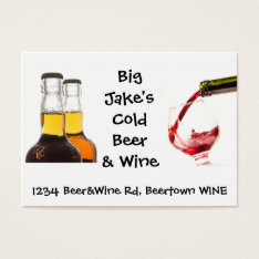 Cold Beer And Wine Liquor Store Business Card at Zazzle