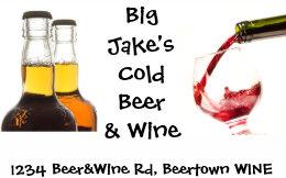 Wine and liquor store business cards templates zazzle cold beer and wine liquor store business card colourmoves