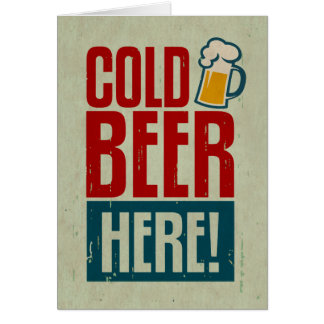 Cold Beer Card