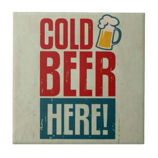 Cold Beer Ceramic Tile