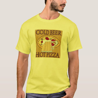 Cold Beer, Hot Pizza T-Shirt