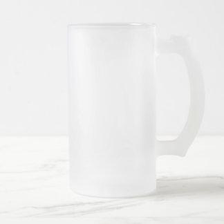 COLD BEER ONLY 16 OZ FROSTED GLASS BEER MUG