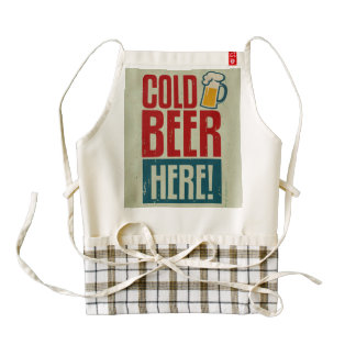 Cold Beer Zazzle HEART Apron