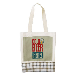 Cold Beer Zazzle HEART Tote Bag