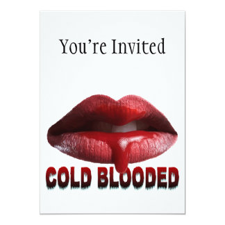 Cold Blooded Lips Card